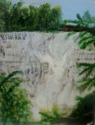 Ithaca Painting Prints - Ithaca Falls Print by Jill Kraft