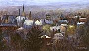 Churches Prints - Ithaca Winter Print by Ethel Vrana