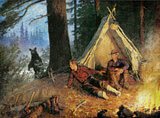 Camping Paintings - Its A Bear by JQ Licensing