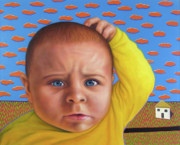 Baby Paintings - Its a confusing world by James W Johnson