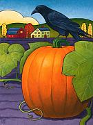 Halloween Paintings - Its a Great Pumpkin by Stacey Neumiller