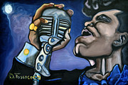 Guitar God Painting Originals - Its A Mans World- James Brown by David Fossaceca