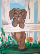 Lorinda Fore Metal Prints - Its a Puppies Life Metal Print by Lorinda Fore