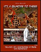 Bartender Framed Prints - Its A Quarter To Three... Framed Print by Will Bullas