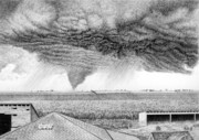 Midwest Drawings - Its A Twister by Craig Carlson