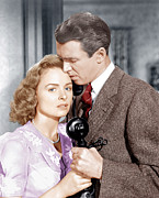 Husband And Wife Posters - Its A Wonderful Life, From Left Donna Poster by Everett