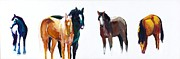 Herd Of Horses Paintings - Its All About The Horses by Frances Marino