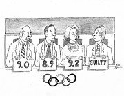 Olympics Drawings - Its All Subjective by John Crowther