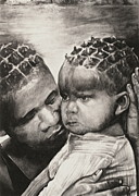 Mother And Child Drawings - Its Alright by Curtis James