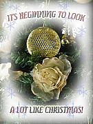 Christmas Card Greeting Cards - Its beginning to look a lot  like Christmas by John Radosevich