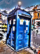 Dr. Who Digital Art Framed Prints - Its Bigger on the Inside Framed Print by Rhonda Chase