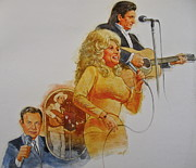 Dolly Parton Prints - Its Country - 5 Print by Cliff Spohn