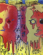 John Lennon  Mixed Media - Its Easy If You Try by Robert Wolverton Jr