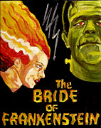 Bride Of Frankenstein Posters - Its Electrifying Poster by Kathryn Gainard