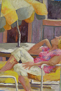 Umbrella Pastels - Its Finally Sunny by Jo Ann Sullivan
