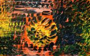 Pallet Knife Painting Prints - Its in my blood Print by Michael Kulick