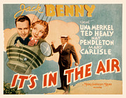 Benny Framed Prints - Its In The Air, Jack Benny, Una Merkel Framed Print by Everett