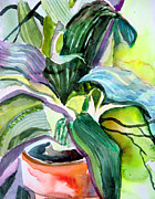 Snake Mixed Media - Its just a House Plant by Mindy Newman