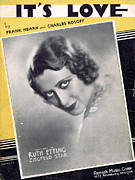 Ruth Etting Posters - Its Love Poster by Mel Thompson