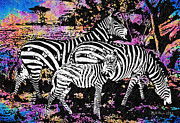 Zebra Digital Art - Its Not All Black and White by Bill Cannon