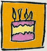 Candles Pastels - Its Your Birthday by Pat  Lackenbauer