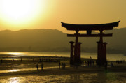 Shrine Island Prints - Itsukushima Shinto Shrine Print by Sebastian Musial