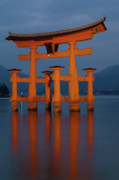 Shrine Island Prints - Itsukushima Shrine Gate Print by JLJ Photography