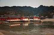 Shrine Island Prints - Itsukushima Shrine on Miyajima Island Print by Ei Katsumata