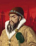 Red Robe Framed Prints - Ivan the Terrible Framed Print by English School