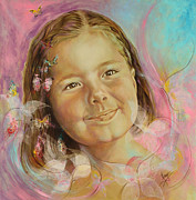 Different Painting Prints - Ivanas portrait Print by Karina Llergo Salto