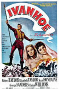 Wbdvd27 Prints - Ivanhoe, Robert Taylor, Joan Fontaine Print by Everett