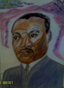 Martin Luther King Jr Paintings - Ive Been to the Mountain Top by Annette Stovall