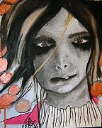 Dark Eyes Pastels Prints - Ive Got a Secret. Print by Chrissa Arazny