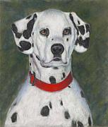 Dogs Pastels Prints - Ive Spotted You Print by Billie Colson