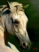 Painted Ponies Art - Ivory by James Shepherd