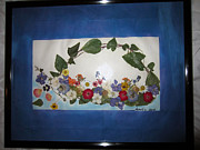 Invitations Painting Originals - Ivy And Flowers by Jadranka M