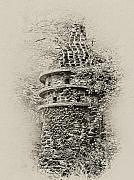 Philadelphia Prints - Ivy Covered Castle in the Woods Print by Bill Cannon