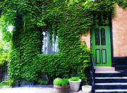 Philadelphia Digital Art Prints - Ivy Covered Philadelphia Row House Print by Bill Cannon