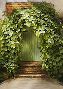 Entrance Door Framed Prints - Ivy door Framed Print by Sharon Foster