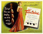 Posth Posters - Ivy, Joan Fontaine, Patric Knowles Poster by Everett