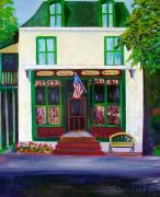 Groceries Painting Posters - Ivyland Country Store Poster by Marita McVeigh