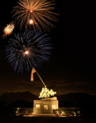 July 4th Prints - Iwo Jima Flag Raising Print by Michael Peychich