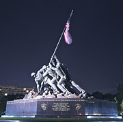 Ww Ii Framed Prints - Iwo Jima Memorial Framed Print by Chuck Smith