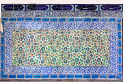 Topkapi Prints - Iznik Ceramics with Floral Design Print by Artur Bogacki