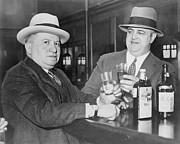 Prohibition Photo Posters - Izzy Einstein Left Sharing A Toast Poster by Everett