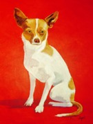Paws Paintings - Izzy by Pauline Ross