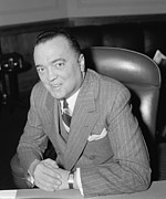 Fbi Prints - J. Edgar Hoover, Director Of Fbi Print by Everett