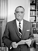 Pocket Square Prints - J. Edgar Hoover, Founder Print by Everett