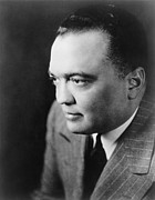 Fbi Prints - J. Edgar Hoover The Director Print by Everett
