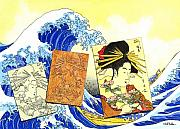 Japan Paintings - J is for Japan... by Will Bullas